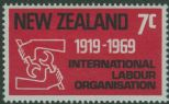 NZ SG893 7c 50th Anniversary of International Labour Organisation